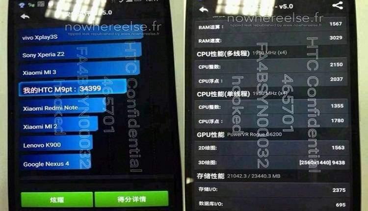 """HTC One M9 Plus: arriva la """"conferma"""" da AnTuTu"""