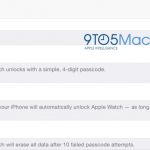 Screenshot dell'app Companion per Apple Watch