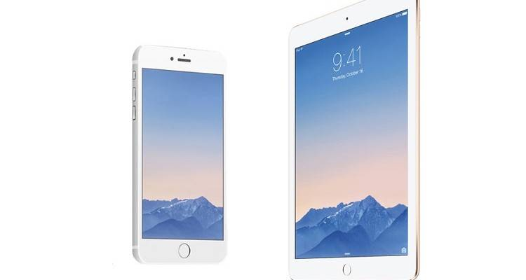 Immagine promozionale iPhone 6 e iPad Air 2