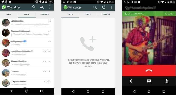 Whatsapp: primi screenshot dell'interfaccia per le chiamate!