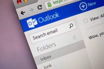 Foto che mostra la pagina principale di Outlook.com