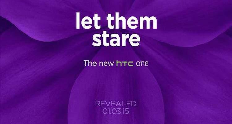 Immagine pubblicata da HTC su Twitter che annuncia la presentazione del nuovo One M9