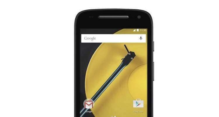 Screenshot che mostra la parte superiore del successore del Motorola Moto E