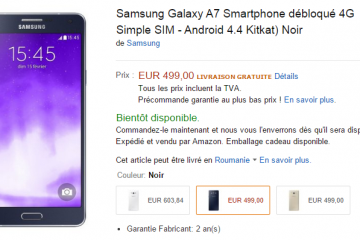 Samsung Galaxy A7 in pre-ordine su Amazon Francia