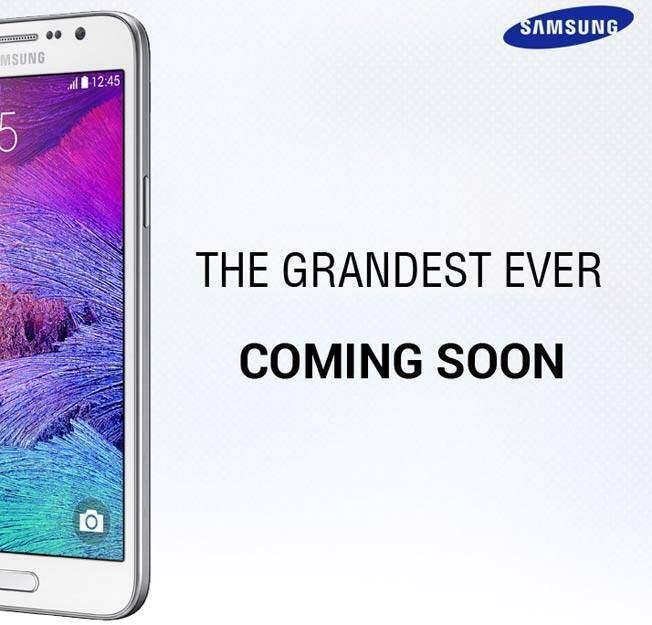 Immagine che annuncia la presentazione del Samsung Galaxy Grand 3