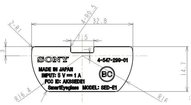 Sony SmartEyeglass: certificazione Fcc