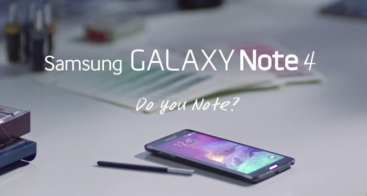 Immagine di esempio di Galaxy Note 4 con S Pen