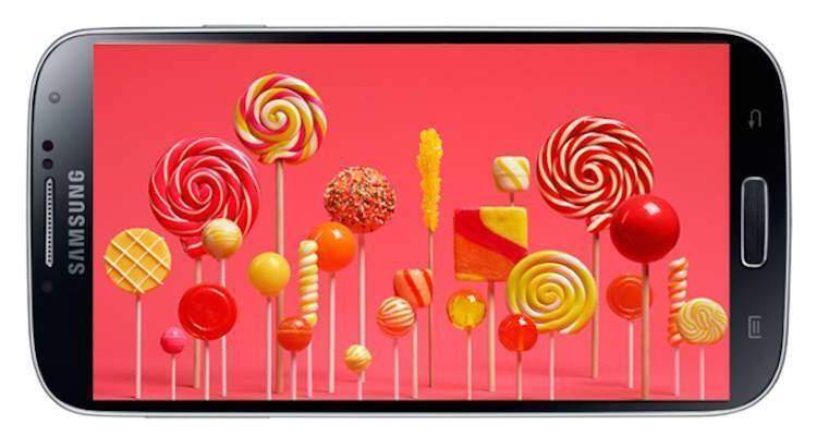 Samsung Galaxy S4 con Lollipop