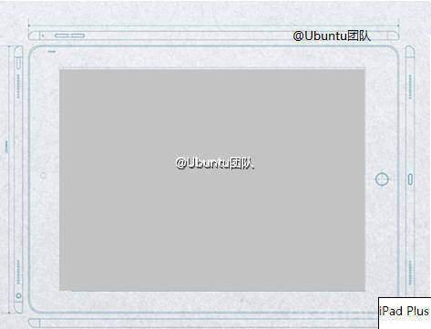 Immagine che mostra il disegno tecnico di iPad Plus di Apple