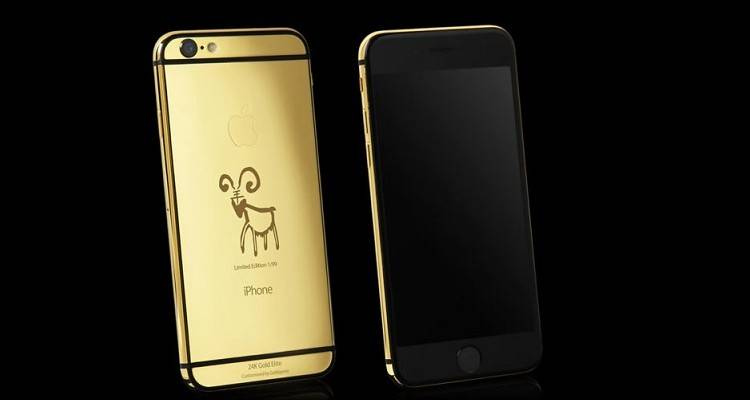 iPhone 6 in oro 24K