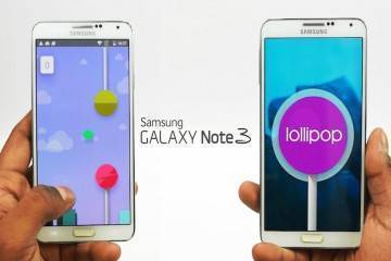 Android Lollipop in esecuzione su Galaxy Note 3