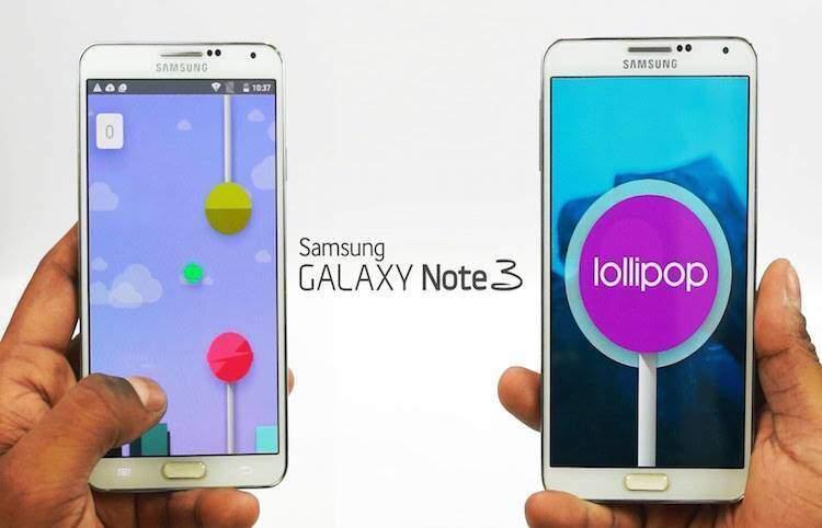 Samsung Galaxy Note 3: nuova rom leaked lollipop