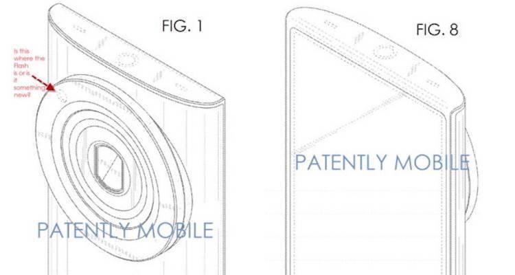 Immagine presente nella domanda di brevetto Samsung che mostra il design del successore del Galaxy K Zoom