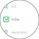 Evernote per android wear