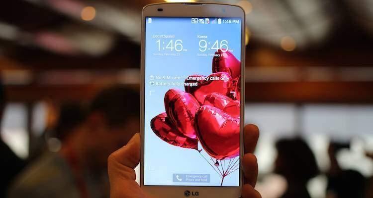 Foto che mostra un LG G Pro 2 in primo piano