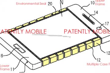 Immagine del brevetto Samsung relativo alla scocca flessibile