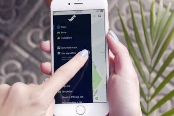 Screenshot del video che illustra il funzionamento di Nokia Here Maps su iOS