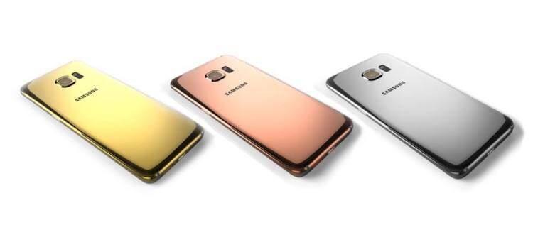 Foto che mostra le cover realizzate da Goldgenie per il Samsung Galaxy S6