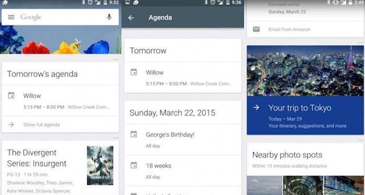 Google Now, interessanti novità per le card Agenda e Viaggi