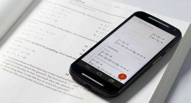 PhotoMath per Android: risolvere calcoli ed equazioni con uno scatto!