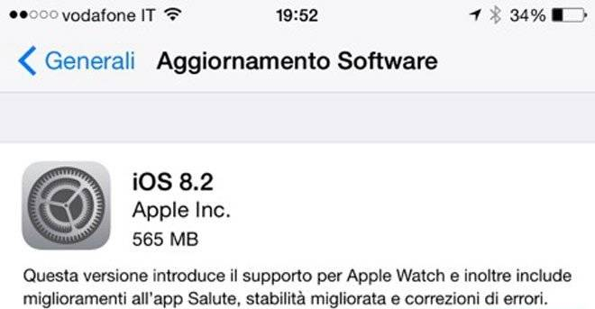 iOS 8.2 disponibile da oggi con supporto ad Apple Watch!