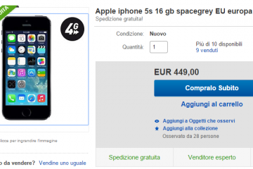 Immagine iPhone 5s Ebay