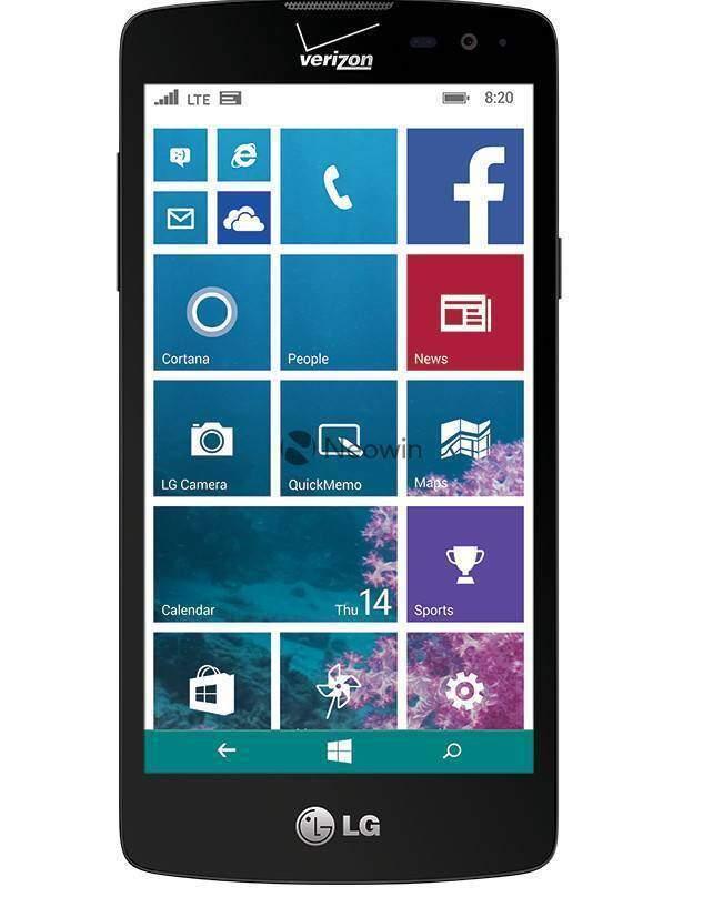 Immagine che mostra il rendering diffuso da Neowin del nuovo smartphone LG basato su Windows Phone