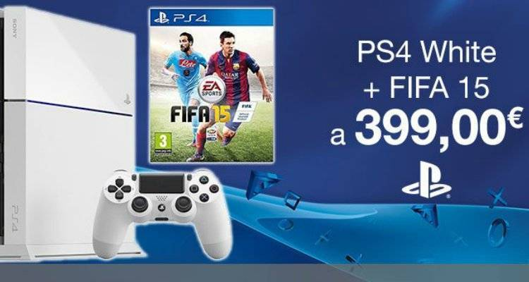 Playstation 4 White + FIFA 15.