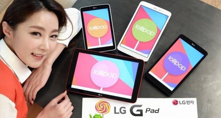 Android Lollipop: aggiornamento disponibile per LG G Pad 7.0, 8.0 e 10.1!