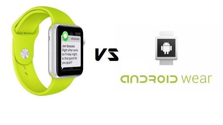 Android Wear vs. Apple Watch
