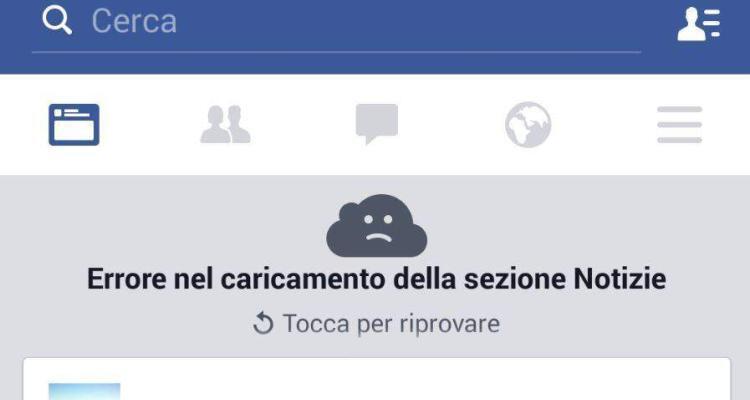 errore facebook