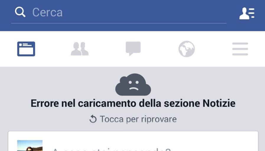 Problemi con l'app di Facebook: impossibile connettersi