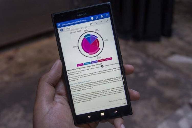Microsoft porta un'anteprima della sua suite Office sugli smartphone Windows phone 10!