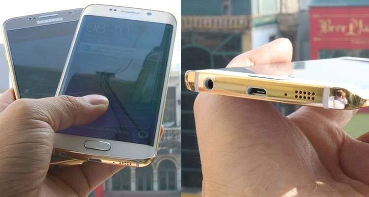 Samsung Galaxy S6 in oro 24k