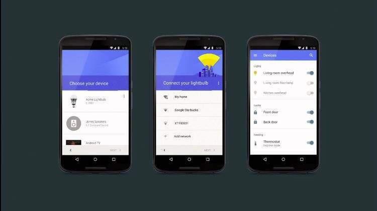 Brillo e Weave: Google collega la casa intelligente ad Android!