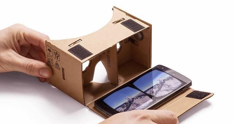 montaggio di google cardboard