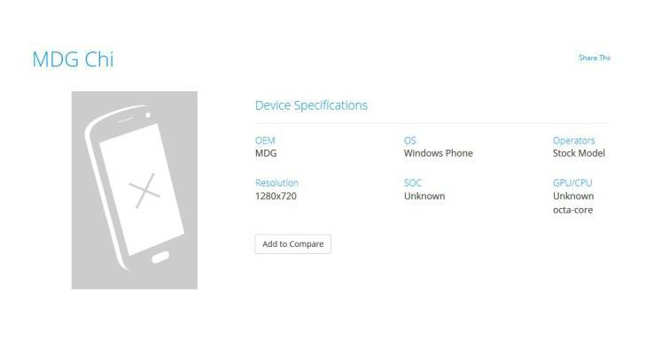 MDG Chi, sigla di un Windows 10 Mobile con CPU octa-core