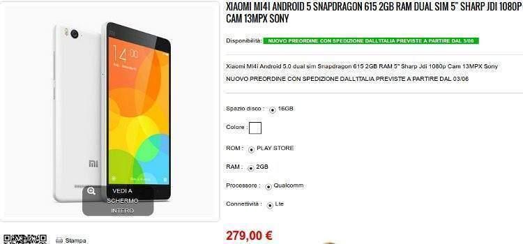 Xiaomi Mi 4i: dal 3 giugno al via le spedizioni in Italia!