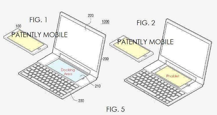 Samsung brevetta una dock laptop-smartphone con due OS!