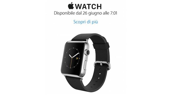 Apple Watch da domani in Italia: inizio vendite alle ore 7:01