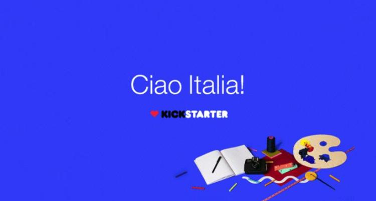 Kickstarter da oggi ufficiale anche in Italia
