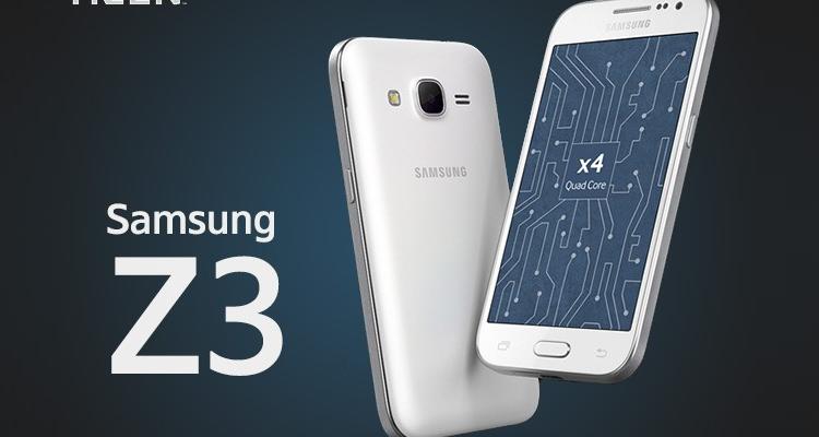 render di Samsung Z3 con OS Tizen