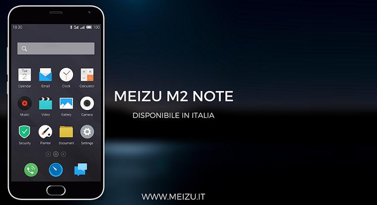 Meizu M2 Note dal 13 Luglio in Italia. Prezzo a 199€