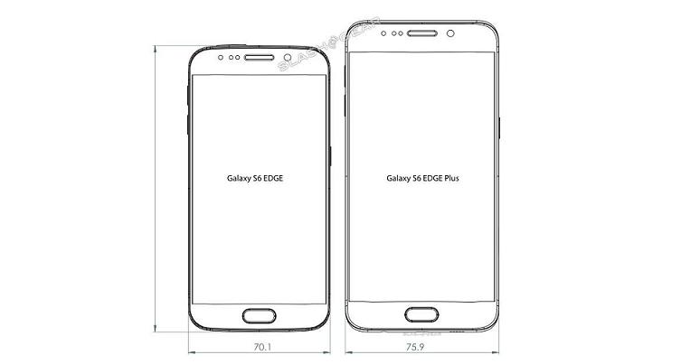Samsung Galaxy S6 Edge Plus: dimensioni e scheda tecnica aggiornate