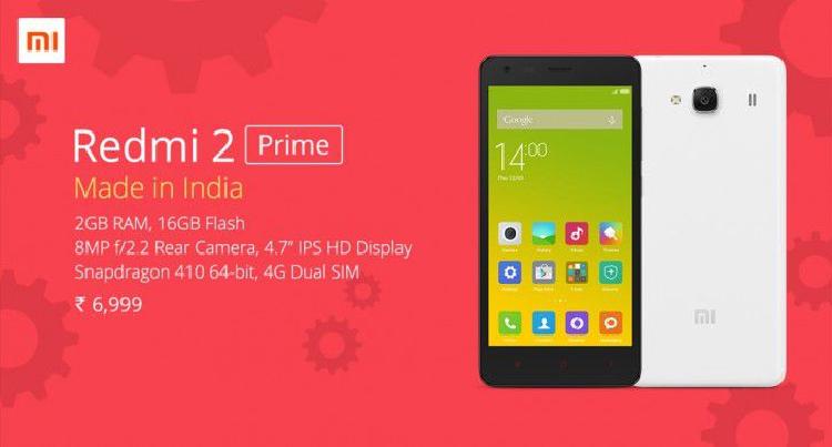 Xiaomi presenta Redmi 2 Prime: la RAM sale, ma il prezzo è fermo