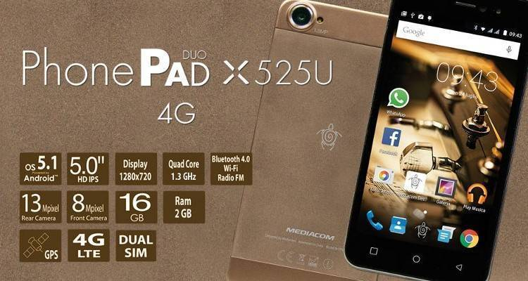 Mediacom PhonePad Duo X525U
