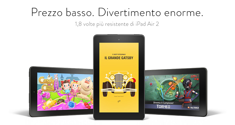 Amazon Fire Tablet: presentata la nuova gamma di tablet Android. Si parte da 59€!