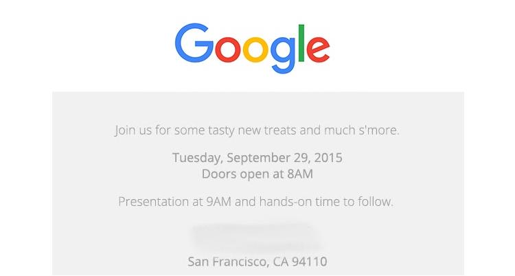 Nuovi Google Nexus, ufficiale l'evento del 29 Settembre