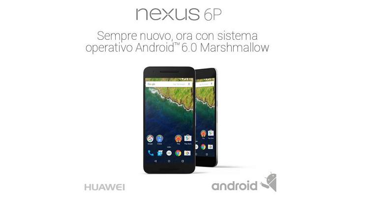 Huawei Nexus 6P arriva in Italia: da Novembre a 699€