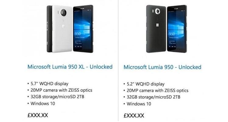 Microsoft Lumia 950 e 950 XL sul sito ufficiale: ci siamo quasi?